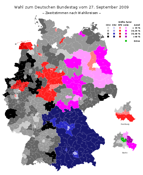 Party list results by constituency